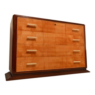 Art Deco Commode in Rosewood and Sycamore Moiree, attributed to Mercier freres.
