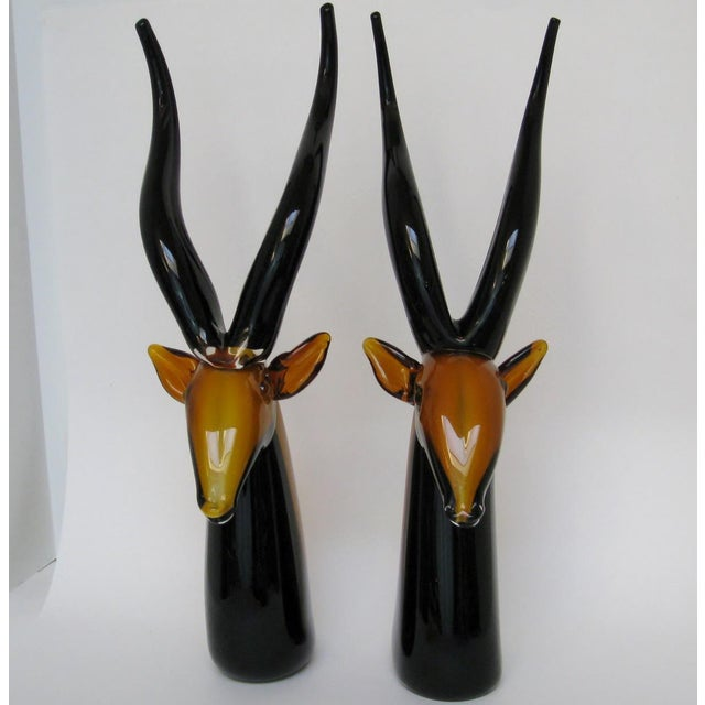 Vintage Murano Antelopes - A Pair For Sale In Los Angeles - Image 6 of 8