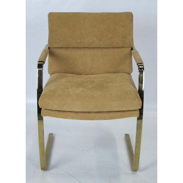 Pace Collection Set of Four Brass Armchairs by Pace For Sale - Image 4 of 5