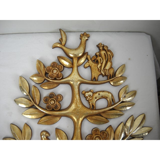 """Plastic Syroco """"Tree of Life"""" Plaque For Sale - Image 7 of 8"""