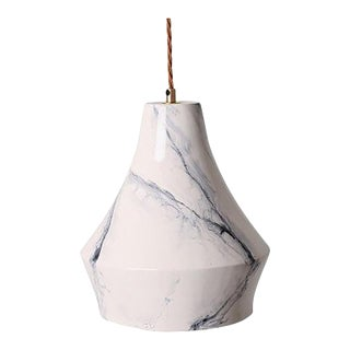 Pembroke Bone China Pendant in White Marble Finish For Sale