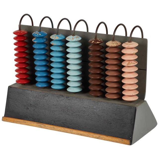 1900s Mid-Century Multicolor Abacus From France For Sale - Image 5 of 5