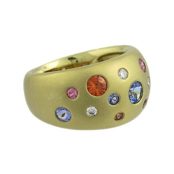 A stunning ring designed by Diane Mazza from Mazza Bartholomew Ltd. in New York. Diane has continued in the family...