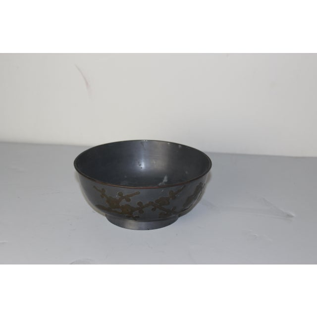 Asian 1940's Pewter Bowl For Sale - Image 3 of 5