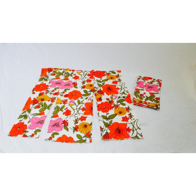Vintage Mod Flower Wall Panels - A Pair - Image 9 of 11