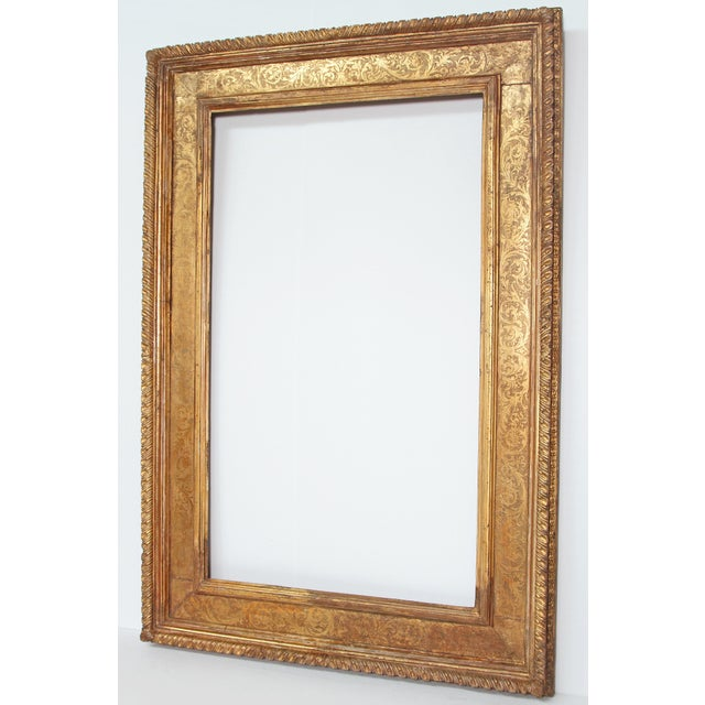 Italian Monumental Hand-Carved and Gilded Florentine Picture Frame For Sale - Image 3 of 11