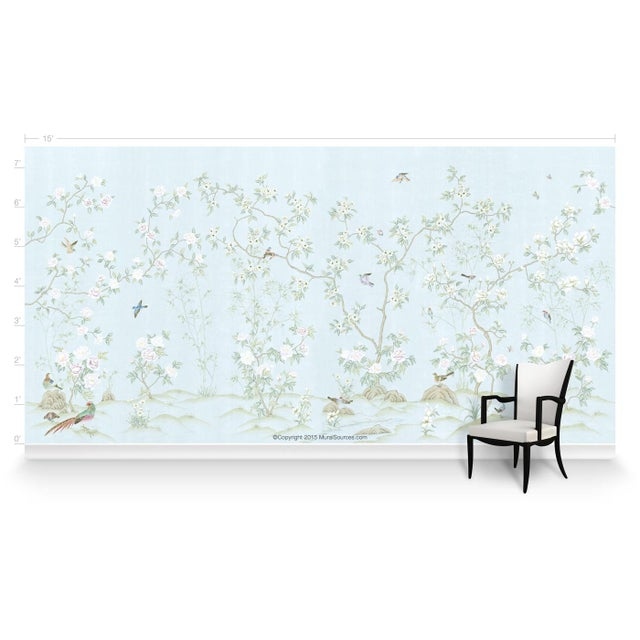 Chinoiserie Casa Cosima Royal Pavilion Wallpaper Mural - Sample For Sale - Image 3 of 5