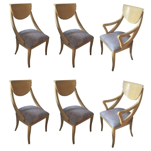 Two Captain & Four Gondola Dining Chairs - Set/6 - Image 1 of 6
