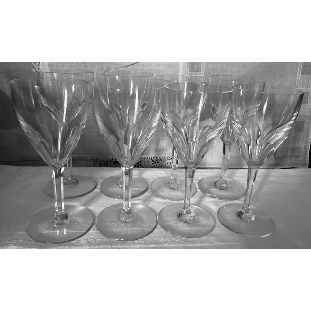 Baccarat Genova 7.5 Inch Water Glasses, France, Set of 8 These exquisite crystal Baccarat water glasses are in the highly...