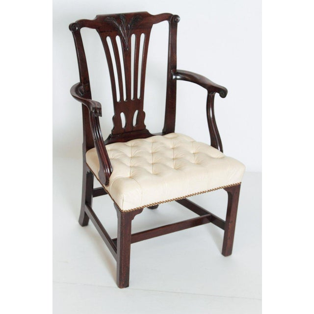 Late 18th Century Chippendale Mahogany Armchair For Sale In Dallas - Image 6 of 13