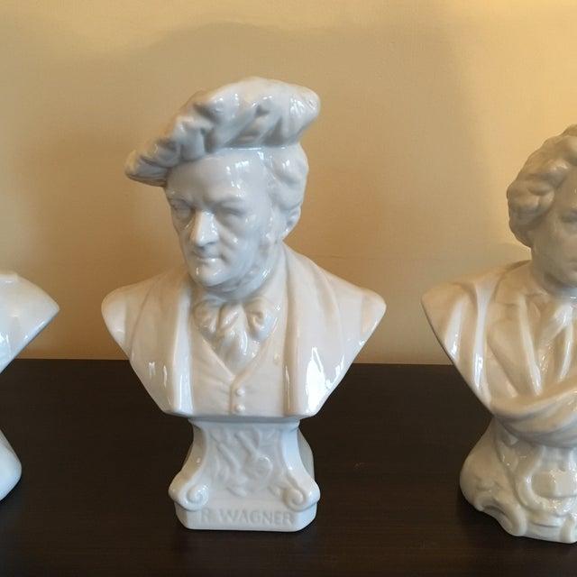 Chelsea House Miniature Porcelain Musician Busts - Set of 4