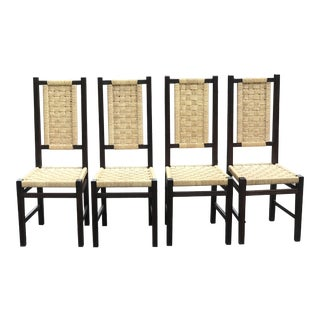 Vintage Mid Century Mexican Dining Chairs- Set of 4 For Sale