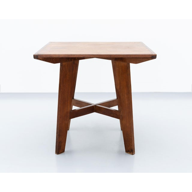 Brown Lovely French Table in the Style of Prouve, France, 1950s. For Sale - Image 8 of 8