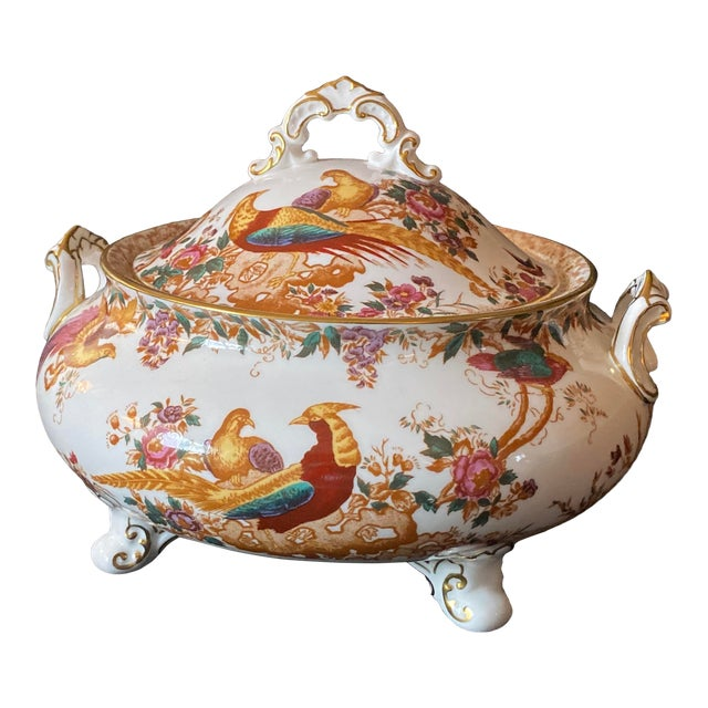 1970s Crown Derby Covered Soup Tureen For Sale