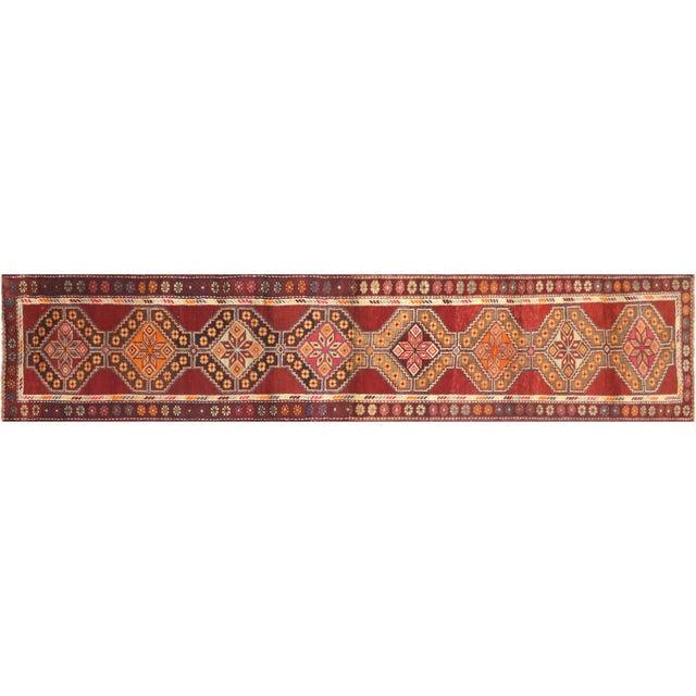 "Textile Nalbandian - 1960s Turkish Oushak Runner - 2'7"" X 12'9"" For Sale - Image 7 of 7"