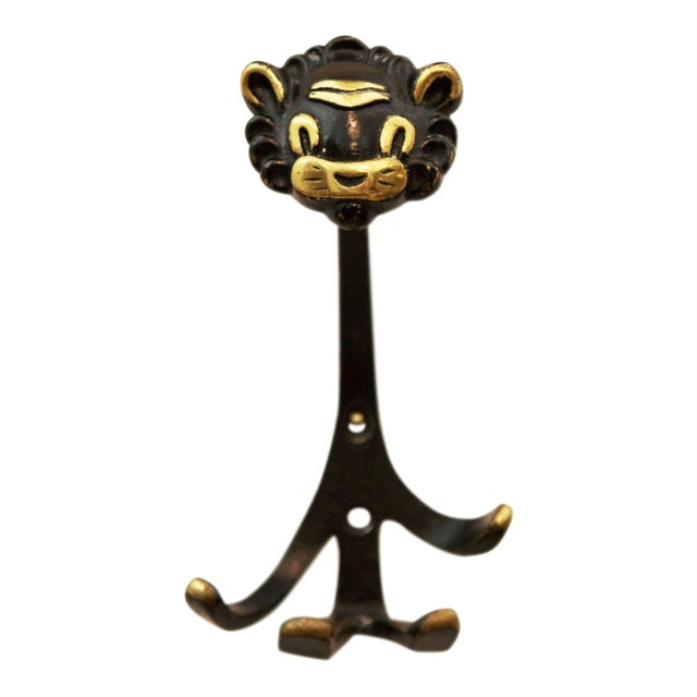 Viennese Lion Wall Hook by Walter Bosse for Hertha Baller, 1955 For Sale