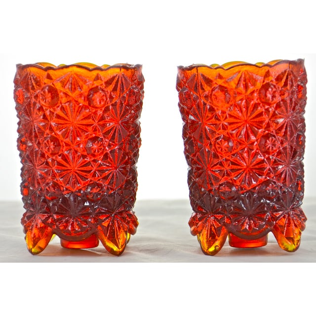 Red Ombre Candle Holders - A Pair - Image 2 of 4