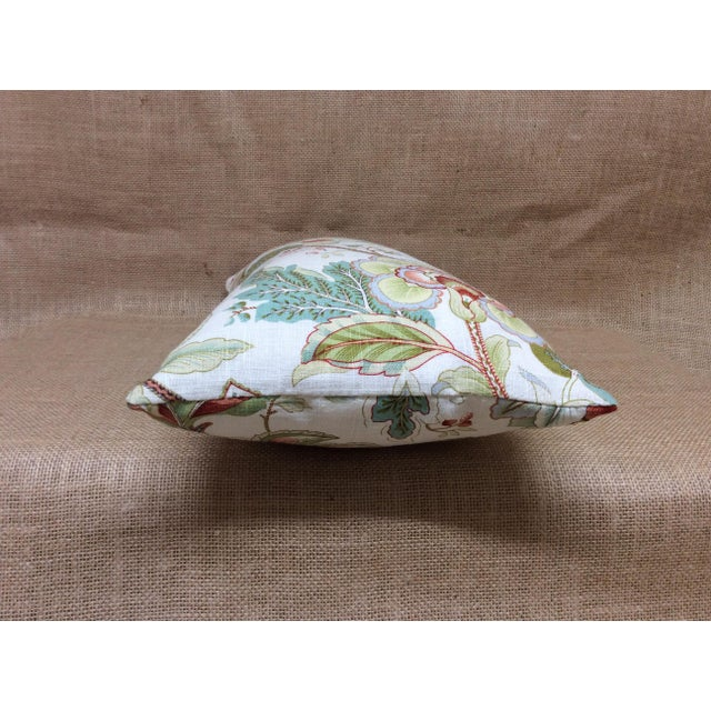 2020s Contemporary Floral Linen Pillow For Sale - Image 5 of 8