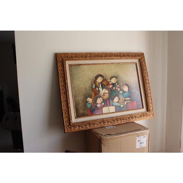 "1990s Vintage ""Camille"" Oil on Canvas by Joyce Roybal For Sale In Baltimore - Image 6 of 12"
