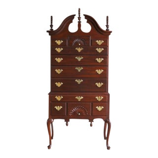 Councill Furniture Queen Anne Highboy Dresser For Sale
