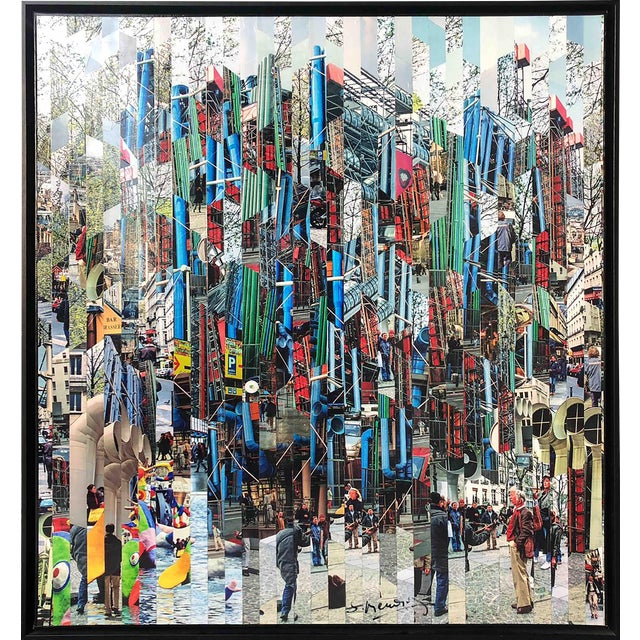 Photography Collage by Serge Mendjisky, Beaubourg For Sale