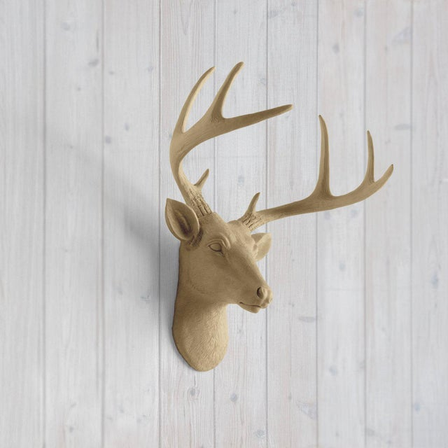 Make your walls charming with the Wall Charmersô Mini Deer head faux taxidermy. This fake deer head mount will be a great...