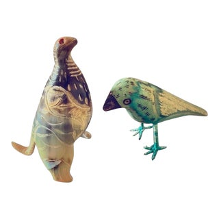 Mid-Century Animal Figurines - a Pair For Sale