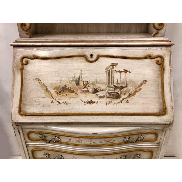 Traditional Hand Painted Venetian Secretary For Sale - Image 3 of 9