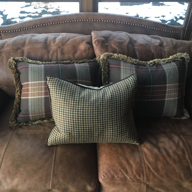 Custom Wool Ralph Lauren Throw Pillows - Set of 3 - Image 3 of 8
