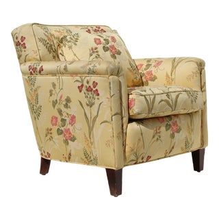 Mid-Century Contemporary Floral Club Chair For Sale