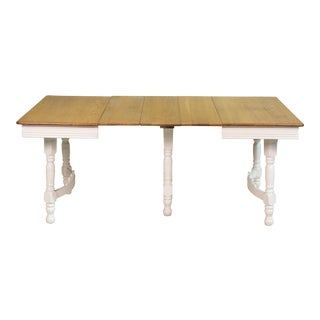 Vintage Sarreid LTD Country Oak Gateleg Dining Table