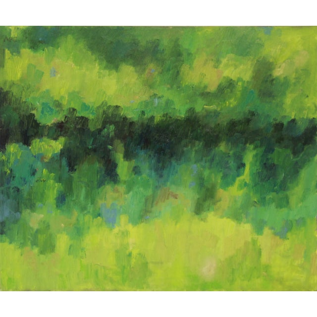 City Park Abstract Oil Painting - Image 1 of 2