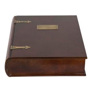 Unusual Mahogany Book-Shaped Box