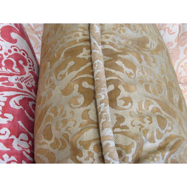 Gold Fortuny Custom Pillow - Image 4 of 5