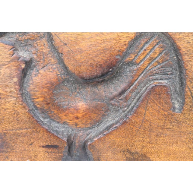 Hand-Carved Early 19th Century Folky Wood Rooster Mold - Image 4 of 6