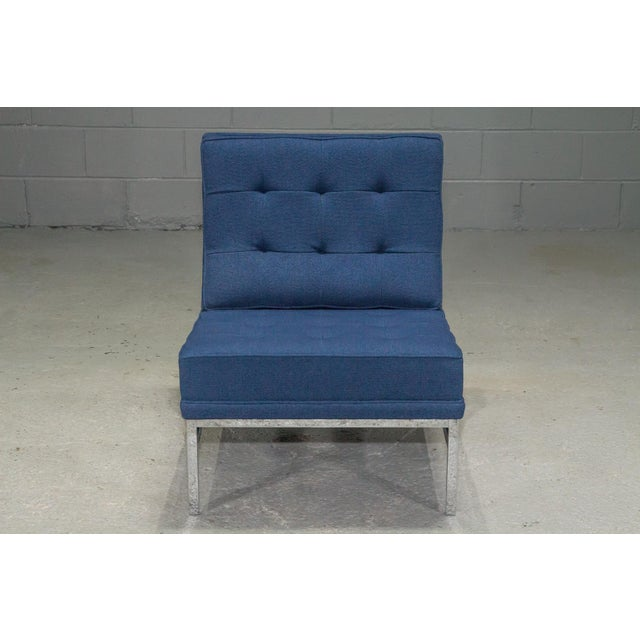 Mid-Century Modern 1960s Vintage Florence Knoll Armless Lounge Chair For Sale - Image 3 of 11