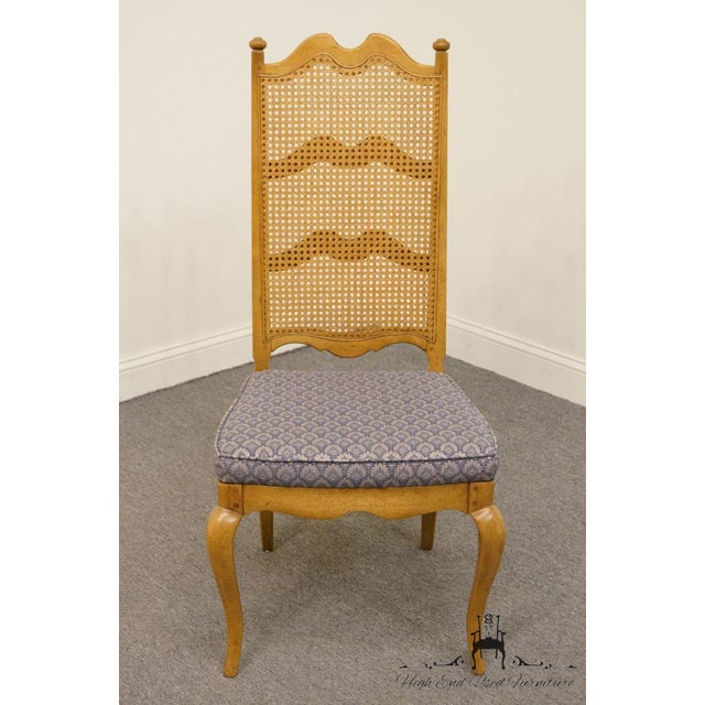 French Thomasville Furniture Chateau Collection Cane Back Dining Side Chair For Sale - Image 3 of 10