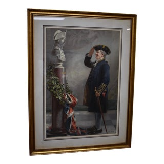 """""""Saluting the Admiral"""" Albert W. Holden, Pears Print 1905"""