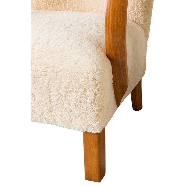 Pair of Scandinavian Sheepskin Lounge Chairs For Sale - Image 9 of 9