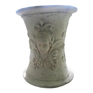 Vintage Pedestal With a Woman's Face For Sale