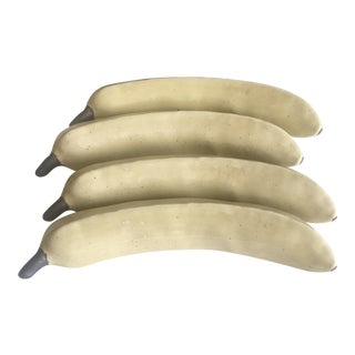 1980s Victor Carranza for Mikasa Postmodern Stoneware Banana Sculptures - Set of 4 For Sale