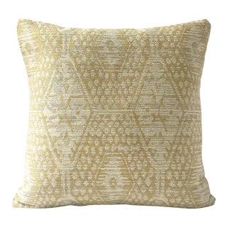 "18"" Jennifer Shorto Woven Gold Pillow Cover For Sale"