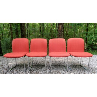 Milo Baughman Design Institute America Red Dining Chairs Preview