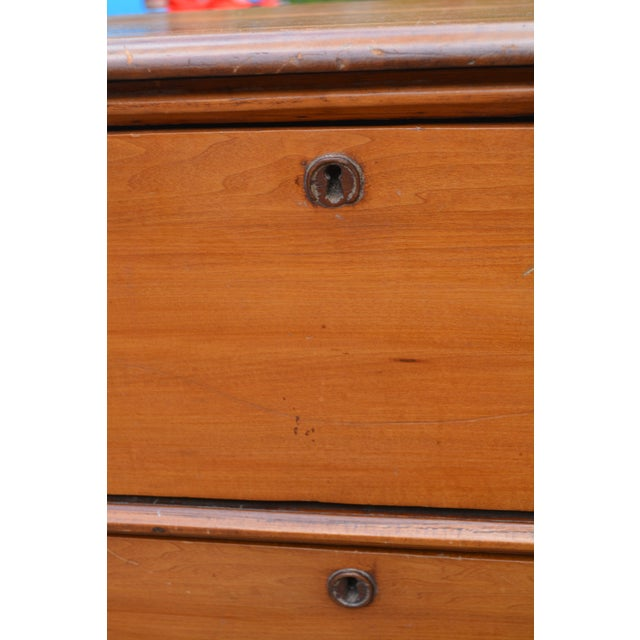 Late 19th Century Antique Victorian Pine Chest of Drawers For Sale - Image 6 of 10