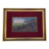Image of 1970s Vintage French Framed Painting For Sale