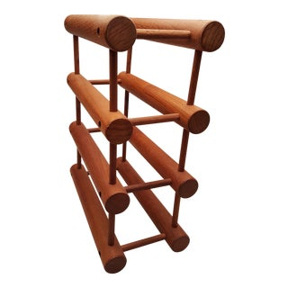 Richard Nissen Danish Teak Wine Rack For Sale
