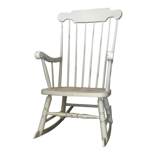 Vintage White Rocking Chair - Vintage White Rocking Chair Chairish