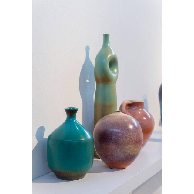 Mid-Century Modern Suzanne Ramie, Madoura Studio, Four Colorful Ceramic Vases For Sale - Image 3 of 8
