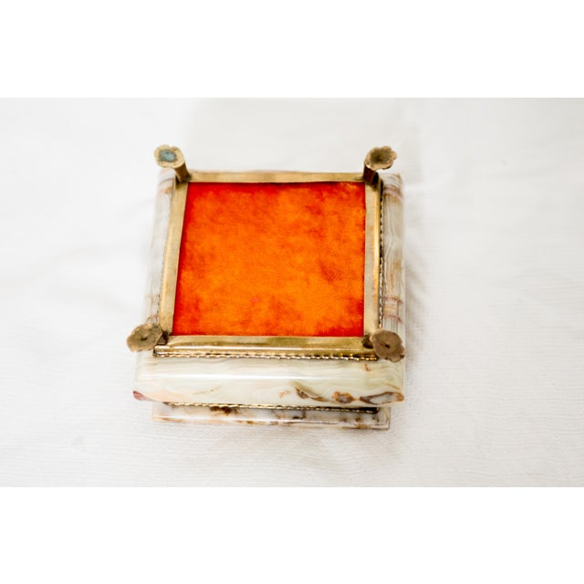 Italian Marble Onyx Trinket Box For Sale In South Bend - Image 6 of 6