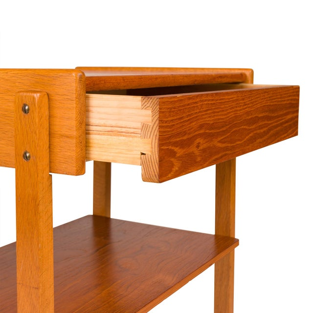 Vintage Danish Mid-Century Teak Nightstands (Pair) For Sale - Image 10 of 11